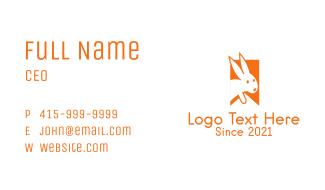 Bunny Bookmark Business Card
