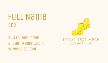 Simple Yellow Rain Boots Business Card