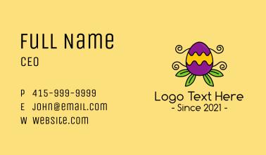 Ornamental Plant Easter Egg Business Card