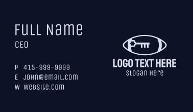Grey Football Key Business Card