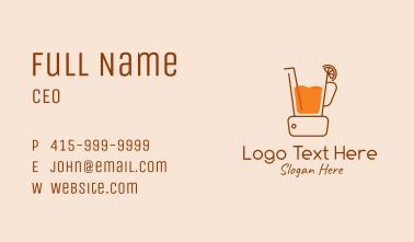 Tropical Orange Blender Business Card