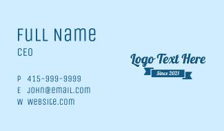 Cursive Banner Wordmark Business Card
