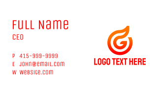 Abstract Flame Outline Business Card