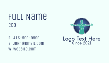 Sports Physiotherapy Emblem Business Card