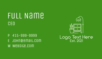 Minimalist Interior Furniture Business Card