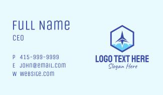 Hexagon Jet Plane Business Card