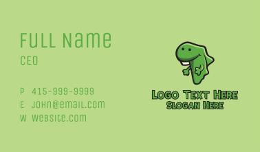 Green African Lizard  Business Card