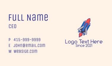 Pencil Rocket Ship  Business Card