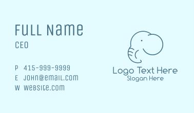 Blue Elephant Monoline Business Card