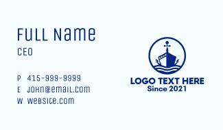 Nautical Anchor Ship Business Card