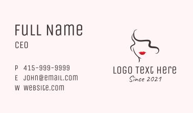 Women Beauty Cosmetic  Business Card