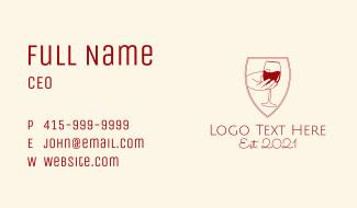 Wine Hand Bar  Business Card