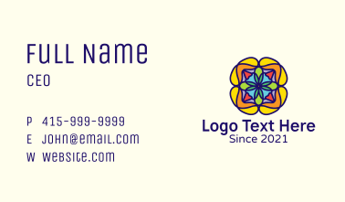 Colorful Flower Decoration Business Card