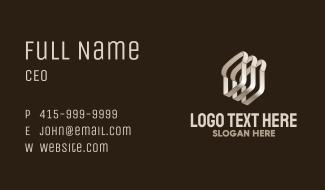 3D Metallic Brad Loaf Business Card