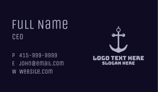 Anchor Diamond Ring Business Card