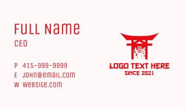 City Temple Shrine Business Card
