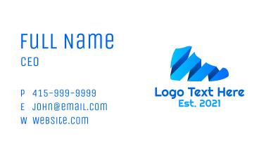Modern Gradient Shoe Business Card