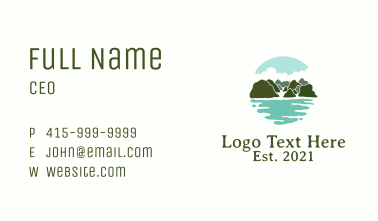 Island Tropical Vacation Business Card