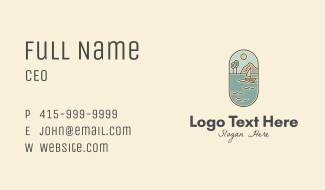 Lake Yacht Travel Business Card