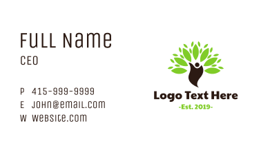 Green Environmentalist Business Card