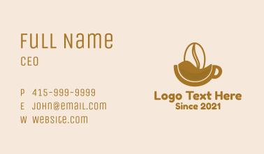 Brown Coffee Bean Mug  Business Card