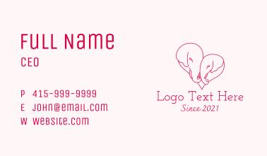 Minimalist Elephant Heart  Business Card