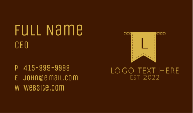 Banner Cloth Thread Letter Business Card
