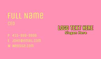 Cute Playful Children Wordmark Business Card