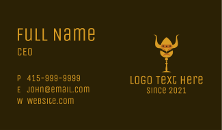 Viking Head Goblet Business Card