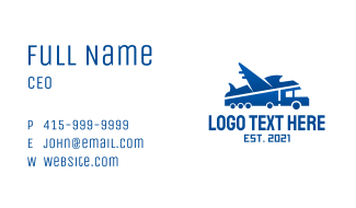 Airplane & Truck Courier Business Card