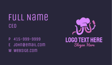 Purple Octopus Chef Business Card