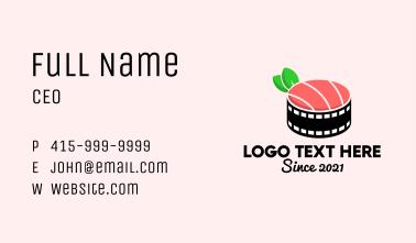 Film Reel Sushi  Business Card