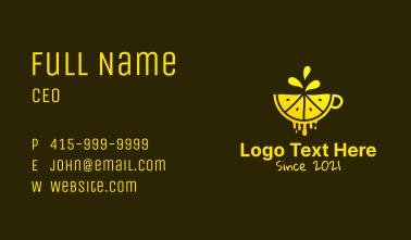 Lemon Juice Cup Business Card