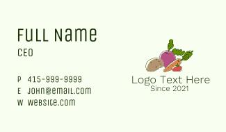 Vegetable Plant Farm Business Card