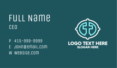 Christian Cross Badge Business Card