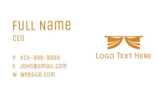 Golden Curtain Business Card