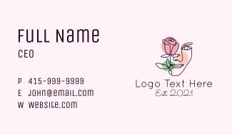 Beautiful Rose Woman Face Business Card