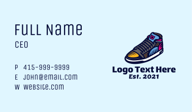 Colorful Skater Shoes Business Card