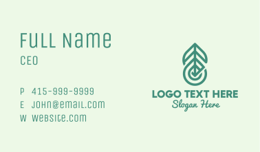 Green Herb Oil Droplet Business Card