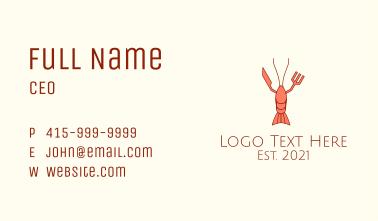 Lobster Restaurant Business Card