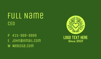 Creature Face Heart Business Card