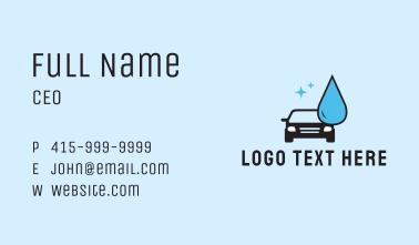 Clean Car Wash  Business Card