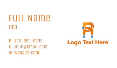 Boomerang Letter R Business Card