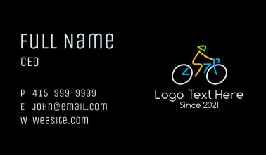 Minimalist Cyclist Athlete Business Card
