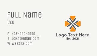 Geometric Flower Icon Business Card