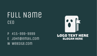 White Ghost Book Business Card