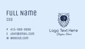 Astral Zodiac Lion Business Card