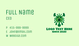 Green Virus Monster Business Card