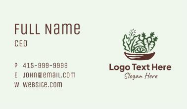 Vegetable Food Bowl Business Card