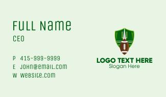 Football Goal Emblem Business Card